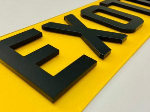 4D acrylic number plates