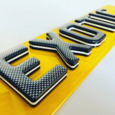 4D carbon gel oreo number plates